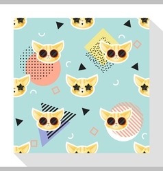 Animal seamless pattern collection with cat 9 vector