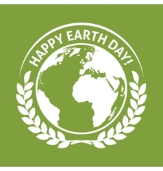 April 22 World Earth Day emblem label vector image vector image