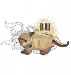 Bizarre cat vector
