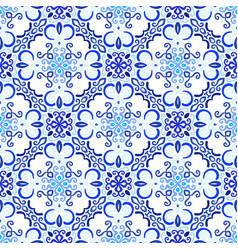 Blue background floral decoration vector