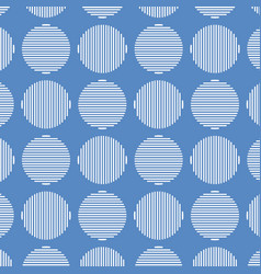 blue geometric seamless pattern design vector image