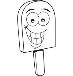 Cartoon frozen treat smiling vector