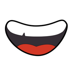 Cartoon mouth icon vector