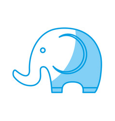 Cute elephant icon vector