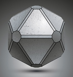 Dimensional galvanized object created from vector