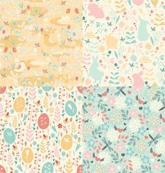 Easter set of patterns vector image