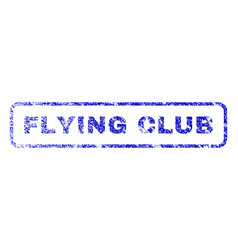 Flying club rubber stamp vector