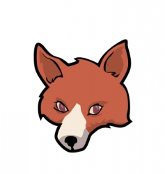 fox face vector image vector image