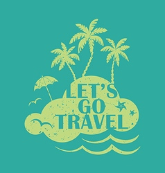 Go travel vector image vector image
