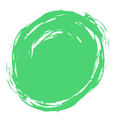 green brush stroke circle shape vector image vector image
