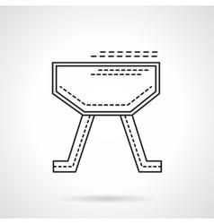 Gymnastics equipment flat line design icon vector