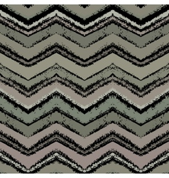 Hand drawn zigzag pattern in gray colors vector image vector image