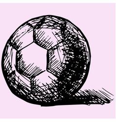 handball ball vector image vector image