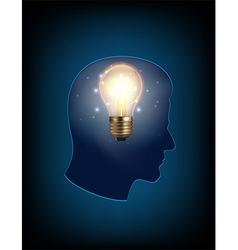 Head light bulb vector