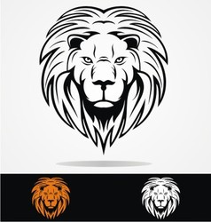 Lions Head Tribal vector image vector image