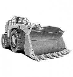 loader engraving vector image vector image