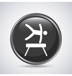 Man jumping icon Sport design graphic vector image vector image
