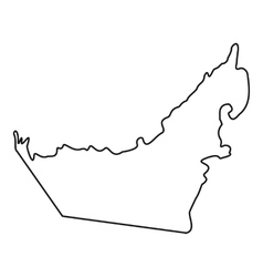 Map of united arab emirates icon outline style vector