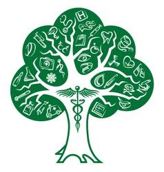 medical tree vector image vector image
