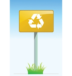 Recycling road sign vector image vector image