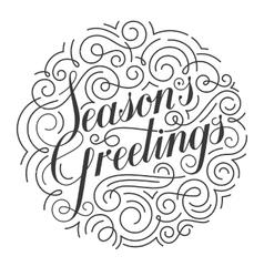Seasons Greetings Christmas card Original vector image