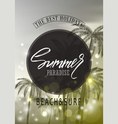 Summer paradisetropical background with palms vector