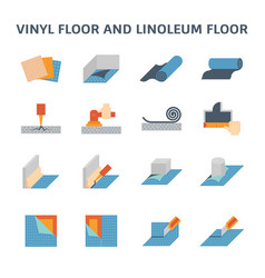vinyl floor icon vector image vector image