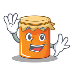 waving jam character cartoon style vector image vector image