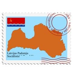 Latvian Soviet Republic vector image