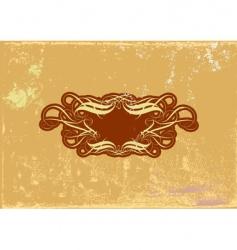 Heraldic frame vector