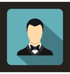Groom icon in flat style vector
