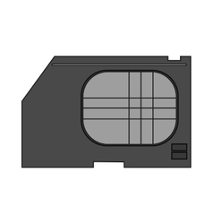 Isolated sim card device design vector