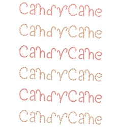 Candy cane words vector
