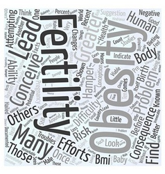 Dieting for fertility word cloud concept vector