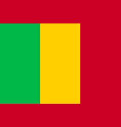 Mali tricolor national flat flag vector