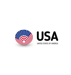 United states of america unusual abstract vector