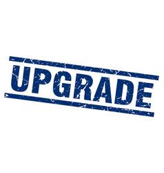 Square grunge blue upgrade stamp vector