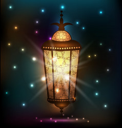 Ramadan background with arabic lantern vector