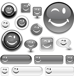Smiley signs vector
