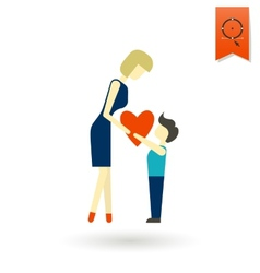 Happy mothers day icon vector