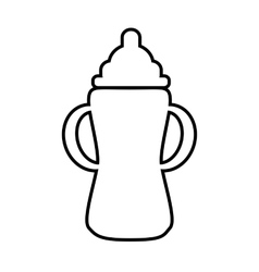 Baby bottle line icon vector