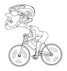 Cyclist cartoon vector