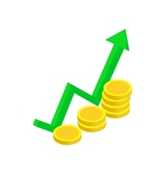Finance growth icon isometric 3d style vector