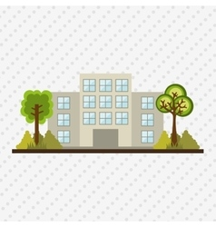 Building front design vector