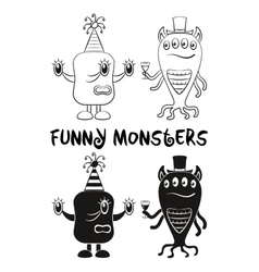 Cartoon monsters set vector