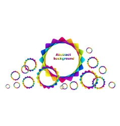 abstract geometric rainbow circles background vector image vector image