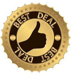 Best deal golden label vector image