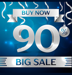 Big sale buy now ninety percent for discount vector