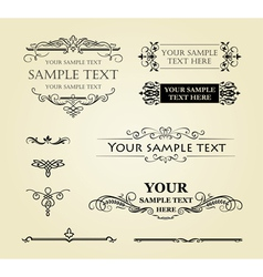 Calligraphic vintage decor vector image