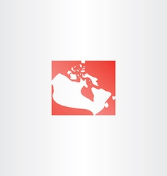 Canada logo map icon vector